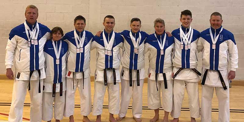 Our medallists in Tallaght, Dublin.