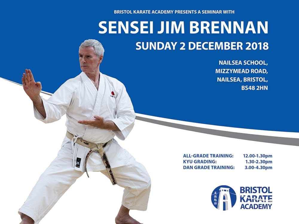 SEMINAR WITH SENSEI JIMMY BRENNAN - BOOK NOW!