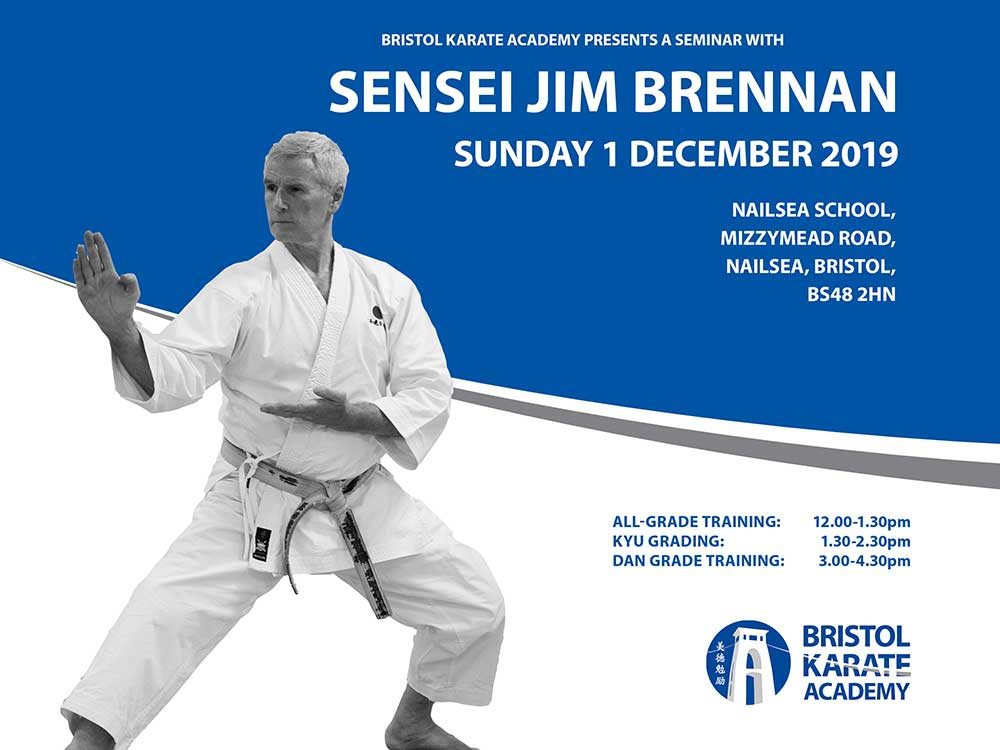 SENSEI JIMMY BRENNAN SEMINAR & GRADING - BOOK NOW!