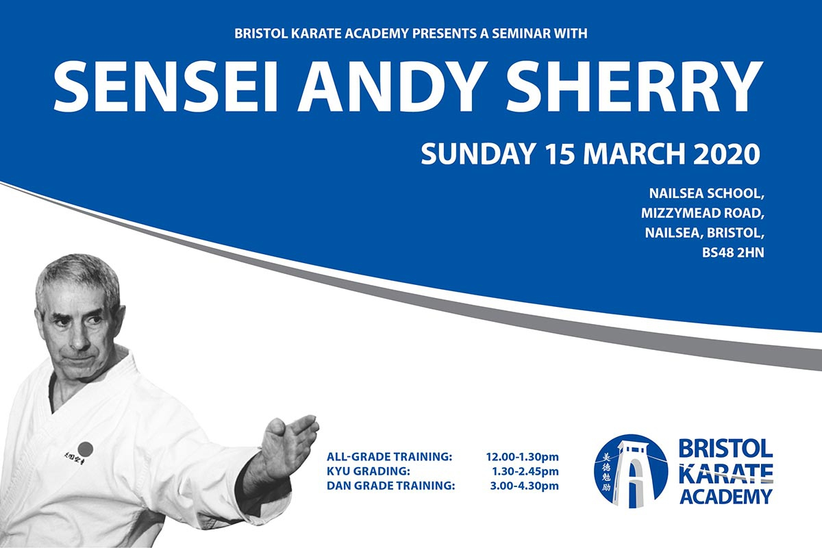 SENSEI ANDY SHERRY RETURNS IN MARCH - BOOK NOW!