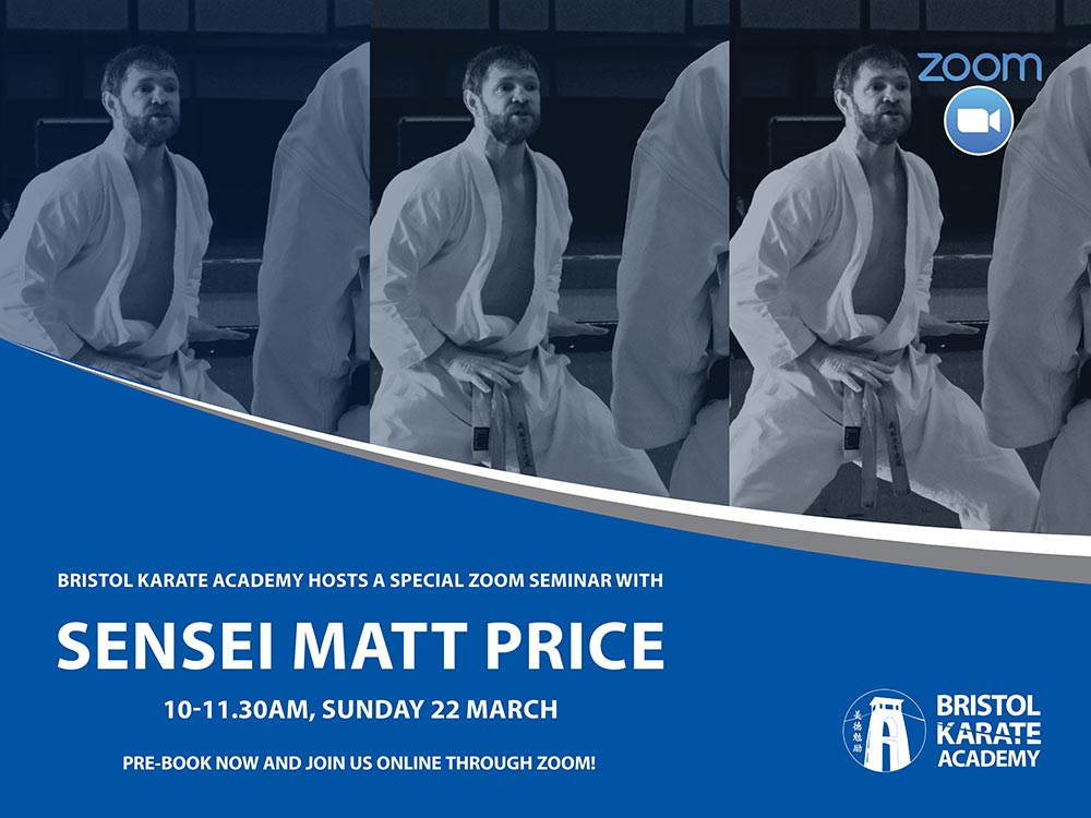 SENSEI MATT PRICE TO TEACH THIS SUNDAY!