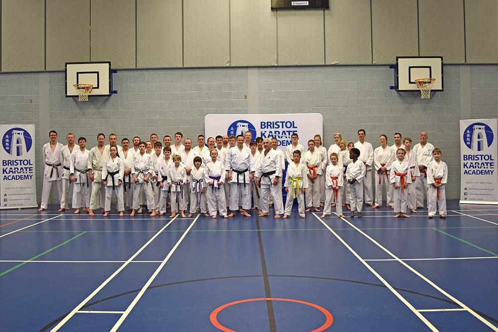 Pictured: Sensei Sherry and Bristol Karate Academy members and guests after class 1.